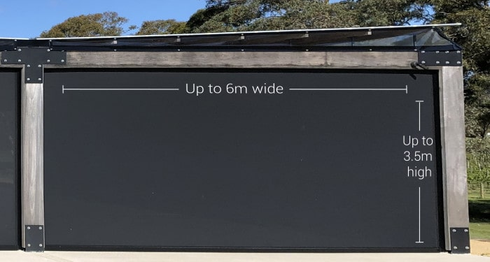 Up to 6 meters wide
