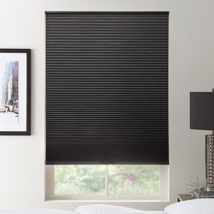 Double cell value blackout honeycomb shades